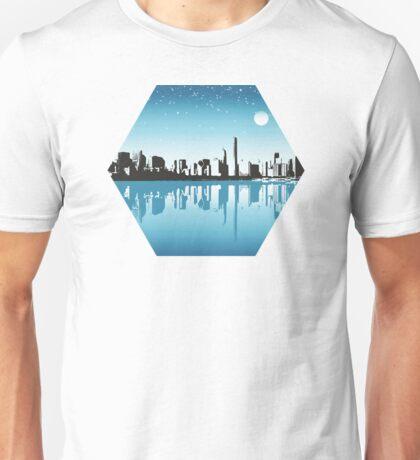 Cityscape, Skyline, Metro, Night Unisex T-Shirt