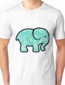 turquoise elephant  Unisex T-Shirt