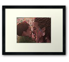 Fingerpaint with Peanut Framed Print
