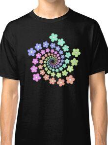 Groovy Flower Spiral - Retro 60s - Vintage 1960s - Rainbow Classic T-Shirt