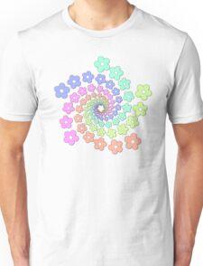 Groovy Flower Spiral - Retro 60s - Vintage 1960s - Rainbow Unisex T-Shirt