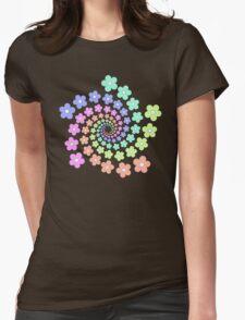 Groovy Flower Spiral - Retro 60s - Vintage 1960s - Rainbow T-Shirt