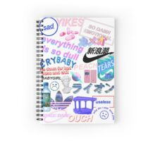 aesthetic collage Spiral Notebook
