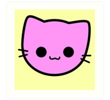 Kawaii Kitty Cats 2048 - tile 2 Art Print