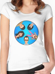 Bob's Burgers Circle Blue Women's Fitted Scoop T-Shirt