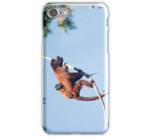 Red Howler monkey iPhone Case/Skin