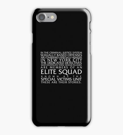 Law and Order:SVU Special Victims Unit Introduction Dick Wolf Classic iPhone Case/Skin