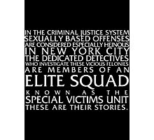 Law and Order:SVU Special Victims Unit Introduction Dick Wolf Classic Photographic Print