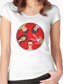 Bob's Burgers Circle Red Women's Fitted Scoop T-Shirt
