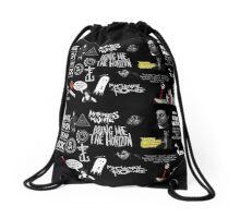 A Punk-Emo Pattern  Drawstring Bag