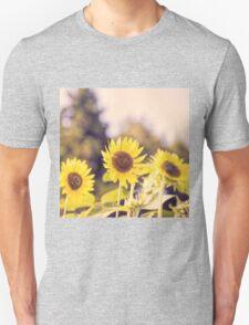 Nostalgic sunflower field Unisex T-Shirt