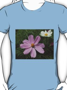 Pink and White Cosmo Flowers T-Shirt