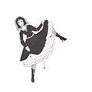 Lola Montez Dancing Her Spider Dance by Penny Hetherington