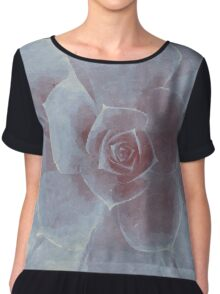 Watercolor Succulent Chiffon Top