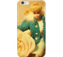 Babs Poses With Roses iPhone Case/Skin