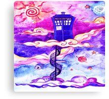 TARDIS COLOUR Canvas Print
