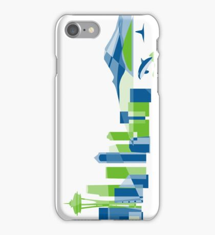 Seattle Skyline | Poly iPhone Case/Skin