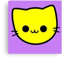 Kawaii Kitty Cats 2048 - tile 4 Canvas Print