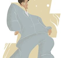 David Byrne of Talking Heads in Big Suit by drumok
