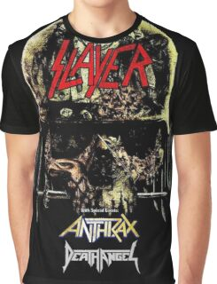 Kar01 SLAYER With ANTHRAX & Death Angel Tour 2016 Graphic T-Shirt