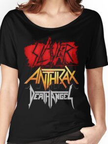 Kar02 SLAYER With ANTHRAX & Death Angel Tour 2016 Women's Relaxed Fit T-Shirt
