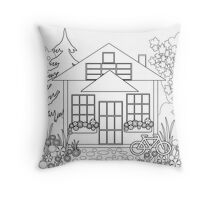 Picture coloring.  Throw Pillow