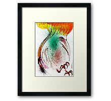 Yellow Flame Crested Bird Framed Print