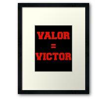 Valor Victory Framed Print