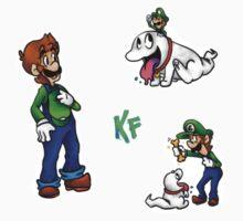 Some Luigi Stickers by Kirafrog