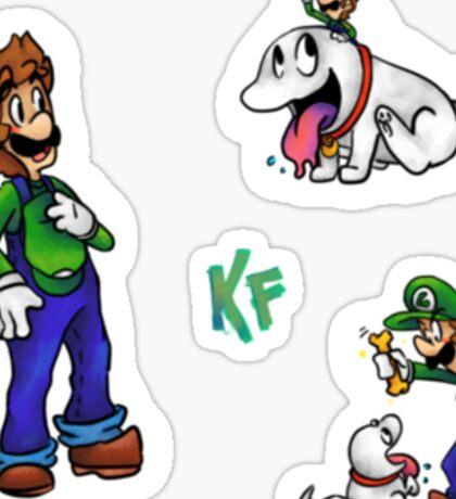 Some Luigi Stickers Sticker