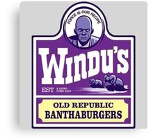 Windu's Banthaburgers Canvas Print