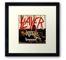Kar04 SLAYER With ANTHRAX & Death Angel Tour 2016 Framed Print