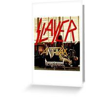 Kar04 SLAYER With ANTHRAX & Death Angel Tour 2016 Greeting Card
