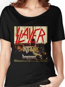 Kar04 SLAYER With ANTHRAX & Death Angel Tour 2016 Women's Relaxed Fit T-Shirt