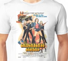Switchblade Sisters Alt 1 (Blue) Unisex T-Shirt