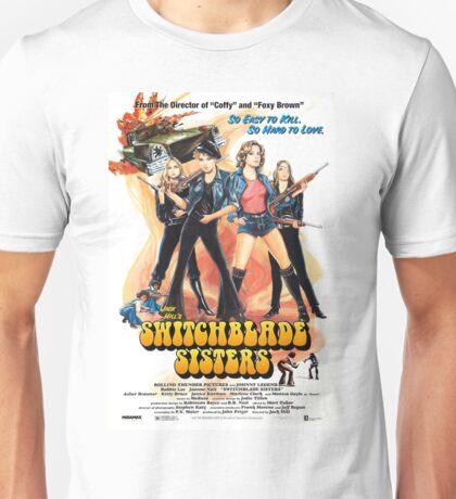Switchblade Sisters Alt 1 (Blue) Unisex T-Shirt
