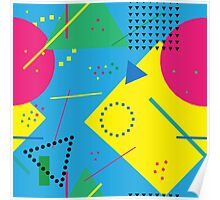 Abstract Memphis Pattern Poster