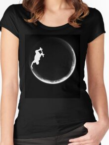 Skate the Moon Women's Fitted Scoop T-Shirt