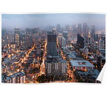 Downtown Seattle at Dusk Poster