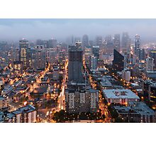 Downtown Seattle at Dusk Photographic Print