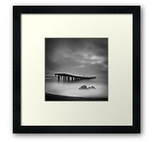 Destroyed pier Framed Print