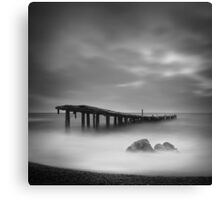 Destroyed pier Canvas Print