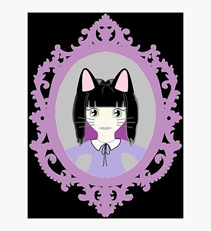 Kawaii Cat Cosplay Girl Photographic Print