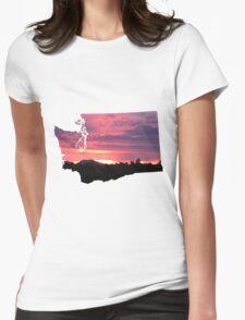 Washington Sunset Womens Fitted T-Shirt