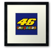 """""""THE DOCTOR"""" VALENTINO ROSSI Framed Print"""