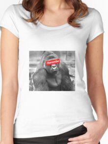 Harambe x Box Logo Women's Fitted Scoop T-Shirt