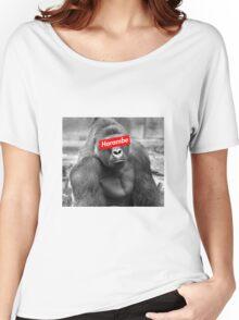 Harambe x Box Logo Women's Relaxed Fit T-Shirt