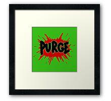 Purge Soda Framed Print