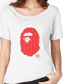 Bape x Japanese Box Logo Women's Relaxed Fit T-Shirt