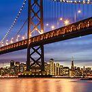 The Golden Gate At Night by Radek Hofman